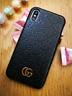 iPhone Xs Case, Black Premium PU Luxury Stylish Designer Fashion Leather Cover Case for iPhone X & Xs