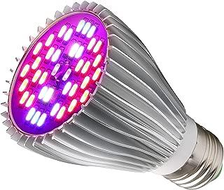 LED Grow Light Bulb,30W Full Spectrum Grow Bulbs for Indoor Plants Hydroponic,Plant Lights Bulbs for Succulent Flowers Tobacco Vegetable Seedling(E26/E27)