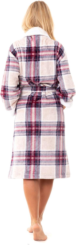 Florentina Womens Soft Fleece Hooded Robe Fuchsia Pink
