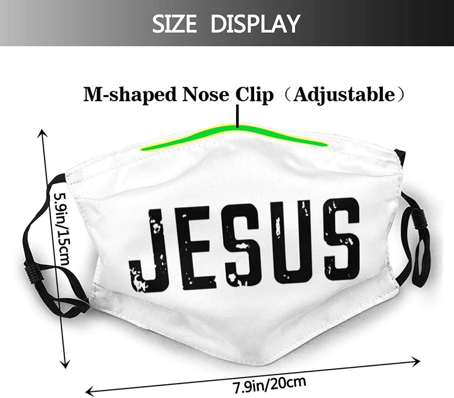 2pcs Orthodox Cross Face Mask for Men Women &Teenager Washable Breathable Bandanas Balaclava with 4 Filters