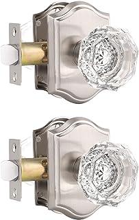NEW OLD STOCK GLASS DOOR KNOB COMPLETE LOCK SET ORIGINAL BOX