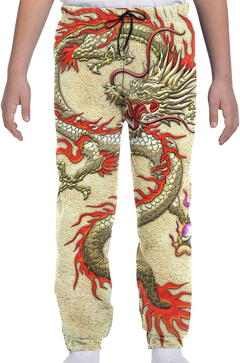 Latest item CLERO Youth Kids Graphic Jogger Golden Tro Dragon Mesa Mall Pants Chinese