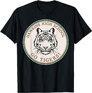 Netflix Stranger Things Hawkins High School Go Tigers Logo T-Shirt