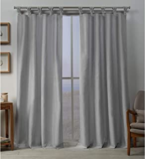 Exclusive Home Curtains Loha BT Panel Pair, 54x84, Dove Grey