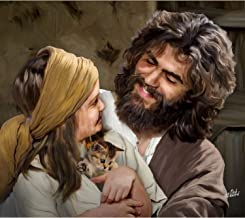 """Deb Minnard , an Award Winning Artist, Presents, """"Jesus and Girl"""" It Will Bring a Smile of Joy to Your Family and Friends. This 8x10, Print Will Last a Lifetime. Great Collectors Item."""