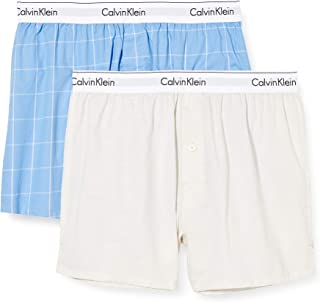 Calvin Klein Men's 2 Pack Slim Boxers