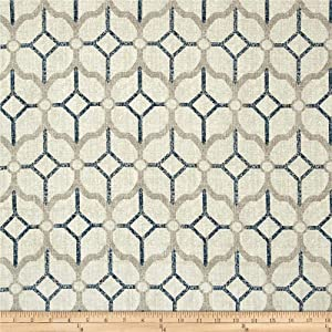 Magnolia Home Fashions Rockaway Navy Fabric by The Yard