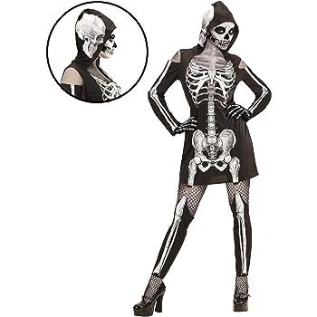 WIDMANN wdm98723 ? Disfraz esqueleto, negro, large: Amazon.es ...