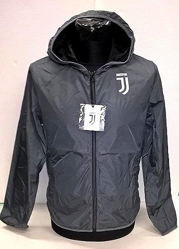 K-Way Juve Juventus Produit Officiel Nouveau Logo Homme Adulte Veste Coupe-Vent Windstopper (gris)