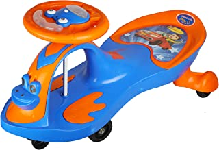 BabyGo Baby POLLI Swing Magic Car Ride On for Kids with Music and Light (Orange and Blue)