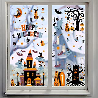 146 PCS Halloween Decals Window Clings for Halloween Decorations Halloween Glass Decals for Party Decorations
