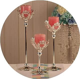 Fashion Wedding Candles Holder Wedding Centerpiece Decoration Candlestick Silver Color Crystal Candle Lantern Candelabras,S