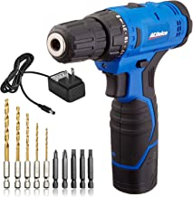 """ACDelco ARD12126P 12V Lithium-Ion Cordless 2-Speed 3/8"""" Drill Driver Kit (10 Bits, Battery, Charger)"""