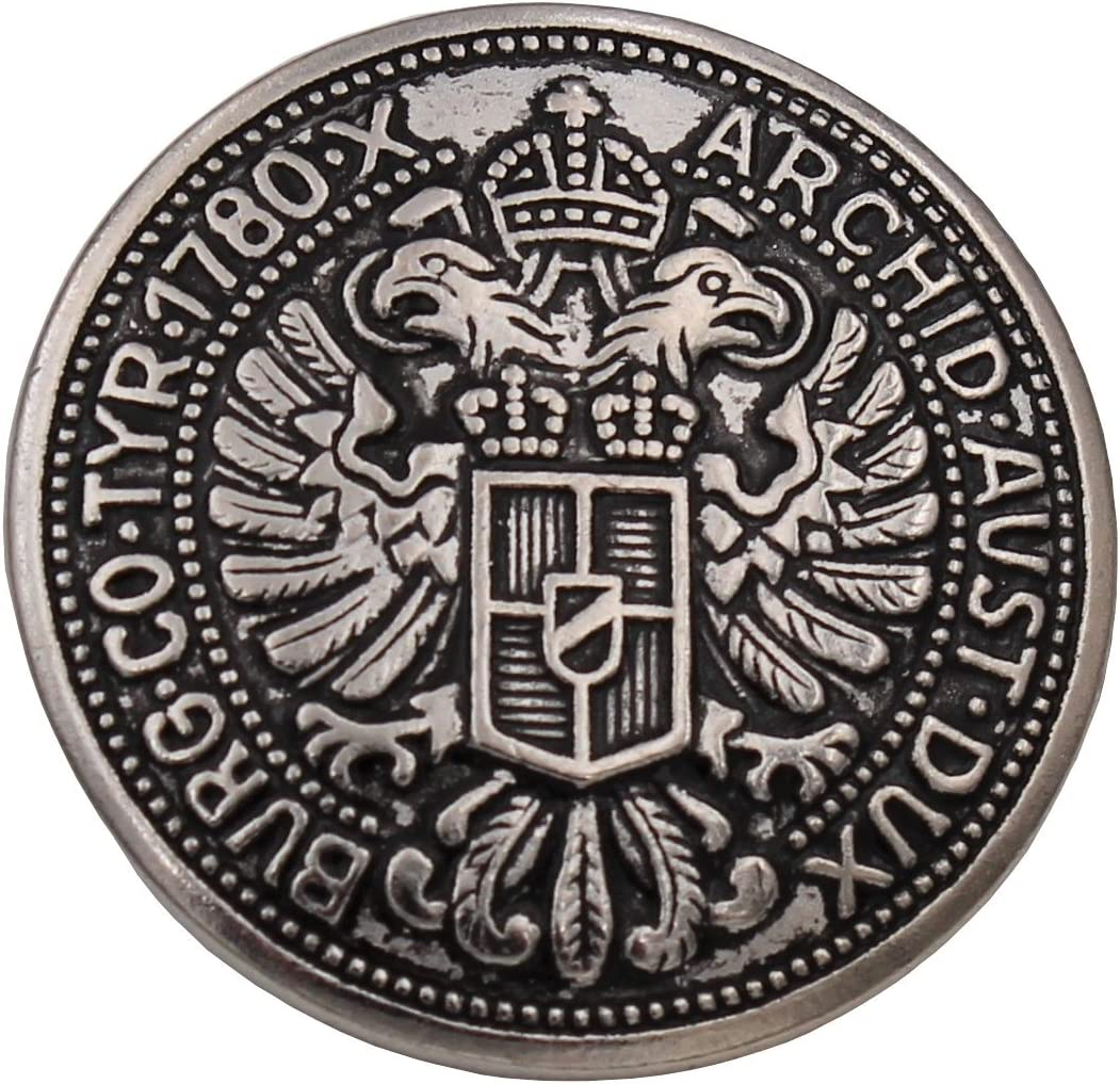 Dirndl Knopf Knöpfe Silber Schwarz 1,9cm Metall  Aktion 2stck = 1€ NEU