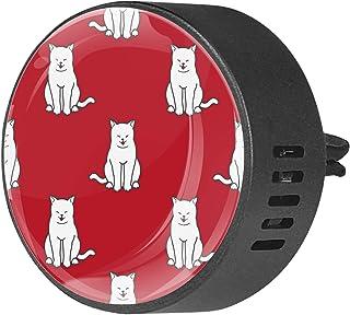 Diffuseurs de voiture pour désodorisant aux huiles essentielles Aromathérapie Cat Seamless Pattern Doodle Wallpaper