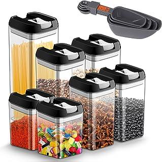 JOLVVN Lot de 7 boite hermetique alimentaire en plastique durable sans BPA boite conservation alimentaire, avec couvercles...