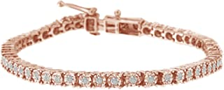 1.0 Ct Rose-Cut Diamond Tennis Bracelet – Flawless Style with Brilliant Shine
