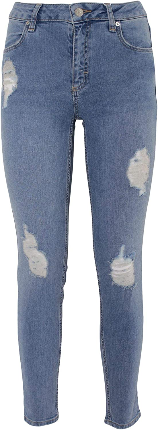 2Nd One Women's 10522084BL bluee Cotton Jeans