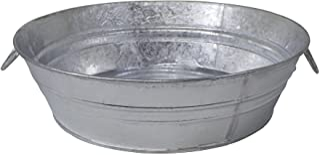 Behrens 105LFT 3 Gallon Hot Dipped Steel Low Flat Tub, Silver