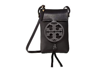 Tory Burch Miller Phone Crossbody (Black 1) Cross Body Handbags