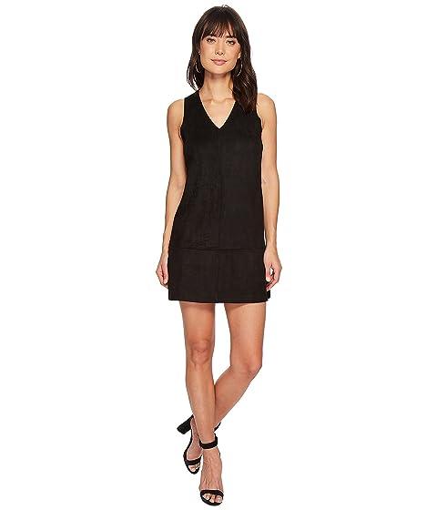 negro vestido joven de cambio de Obispo gamuza sintética 0H18x