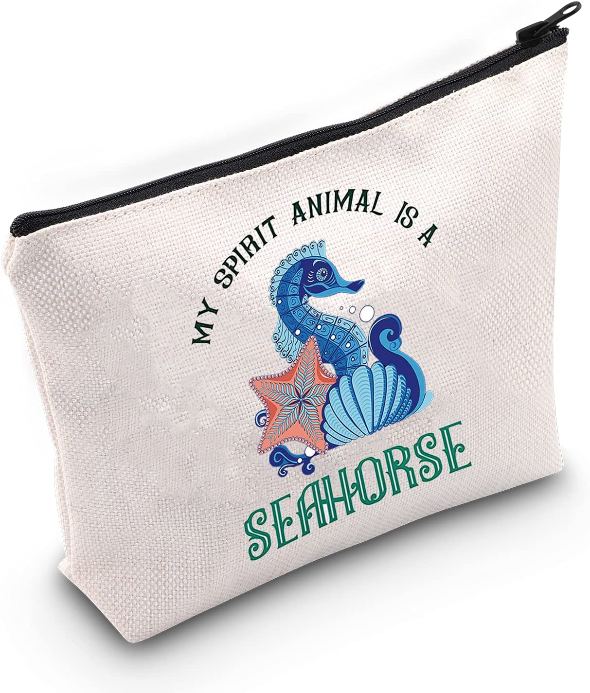 LEVLO Max 62% OFF Funny Selling and selling Seahorse Cosmetic Make Up Bag My Lover Gift