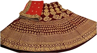 maroon Wedding Designer Heavy Zari Bridal Collection Lehenga Chaniya Choli Dupatta Custom to Measure Indian Ethnic Wear 2834