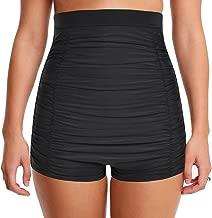 coastal rose Women's Swimsuit Bottom Super High Waisted Bikini Bottom Ruched Swim Shorts