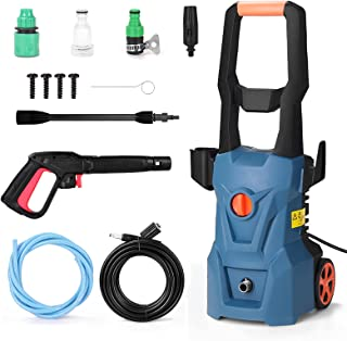 CHOSMO High Pressure Cleaning Machine Household Car Washing Machine Long Handle Car Washing Pump With Wheel Portable Car W...