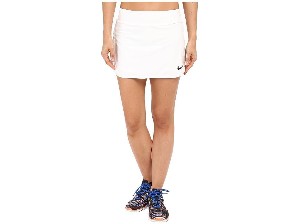 Nike Court Pure Tennis Skirt (White/Black) Women