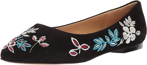 Trougeters Wohommes Estee Embroidery Ballet Flat, noir, 8.5 8.5 8.5 W US a90