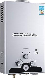 comprar comparacion Z ZELUS 8L Calentador de Agua LPG Calentador de Agua Instantáneo 16KW Calentador de Agua de Gas Licuado de Petróleo sin Ta...