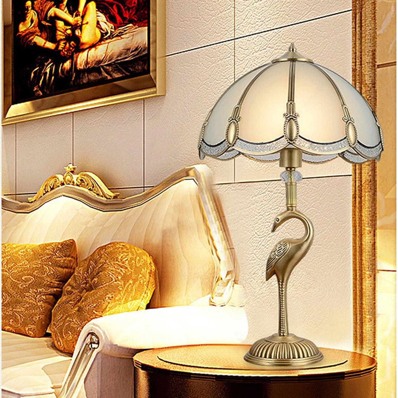 Angelxue Kupfer Tischlampe Schlafzimmer Nachttischlampe Europäischen Retro Kupfer Luxus Tischlampe B07F85K4RR     | Fuxin