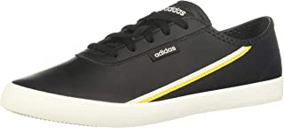 Adidas Courtflash X Faux Leather Side-Logo Low-Top Lace-Up Sneakers for Women
