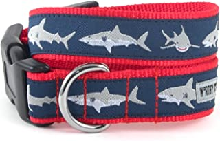 The Worthy Dog Jaws Shark Pattern Designer Adjustable and Comfortable Nylon Webbing, Side Release Buckle Collar for Dogs - Fits Small, Medium and Large Dogs, Blue Color