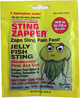 2 Pack Sting Zapper Jellyfish Sea Life First Aid Medicated Gel Wipe Fast Relief