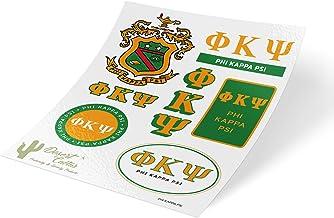 Phi Kappa Psi Standard Sticker Sheet Decal Laptop Water Bottle Car Phi Psi (Full Sheet - Standard)