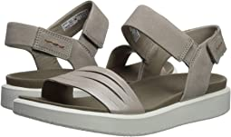 f07004b03ccc79 Moonrock Silver Warm Grey Metallic Cow Leather Cow Nubuck. 66. ECCO. Flowt Strap  Sandal.  128.99MSRP   130.00