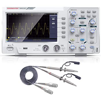 HANMATEK 110mhz Bandwidth DOS1102 Digital Oscilloscope with 2 Channels and Screen 7 inch / 18 cm, TFT-LCD Display, Portable Professional Oscilloscope Kit with 1GS/s Sampling Rate (Not for Medical Use)