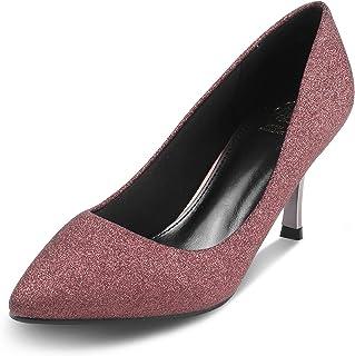 Tresmode Womens Evening Glossy Meduim Heel Pumps
