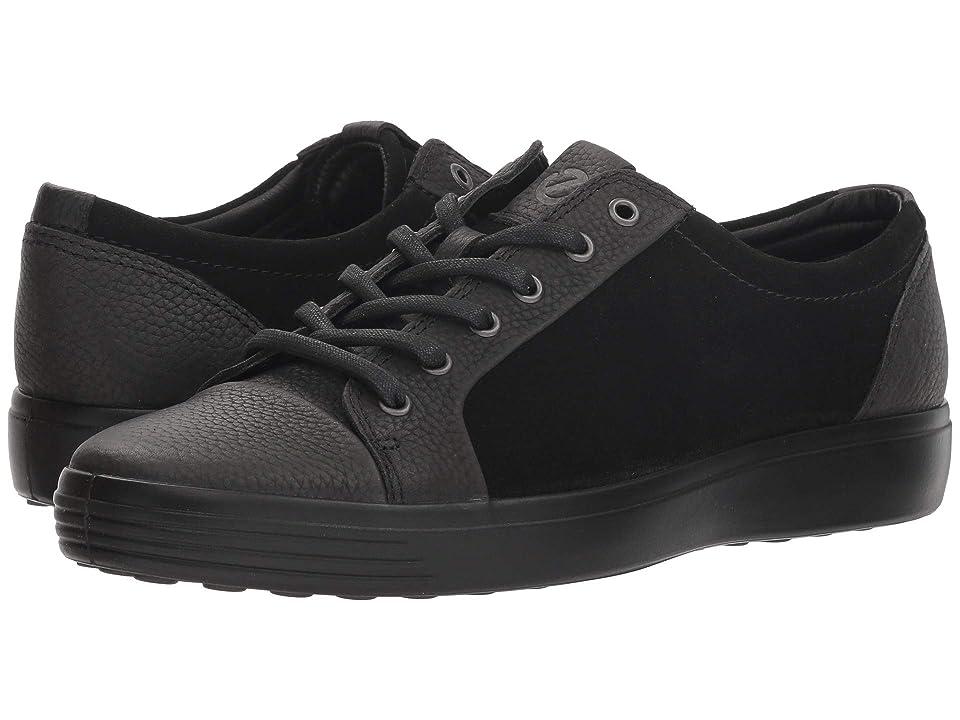 ECCO Soft 7 Casual Tie (Black/Black) Men