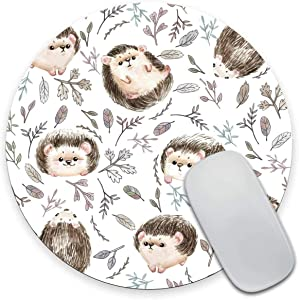Star Heaven Round Mouse Pad Cute Baby Hedgehog Animal Mousepad Cubicle Decor Office Desk Accessories Office Supplies Desk Decor 7.9 x 7.9 x 0.12 Inch