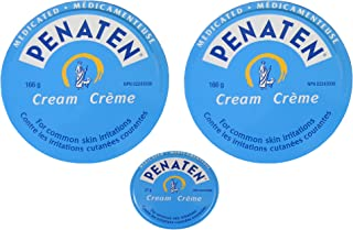Penaten Cream Convenient Economical 3 Tin Pack, 2 Large 5.9 Ounce Tins And 1 X 0.95 Ounce Diaper Bag / Purse Size Tin (12.75 Ounce Total Content Weight)