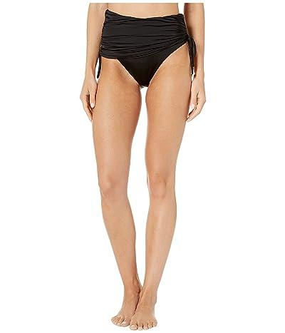 Stella McCartney Charms Draped High-Waist Bikini Bottom (Black) Women