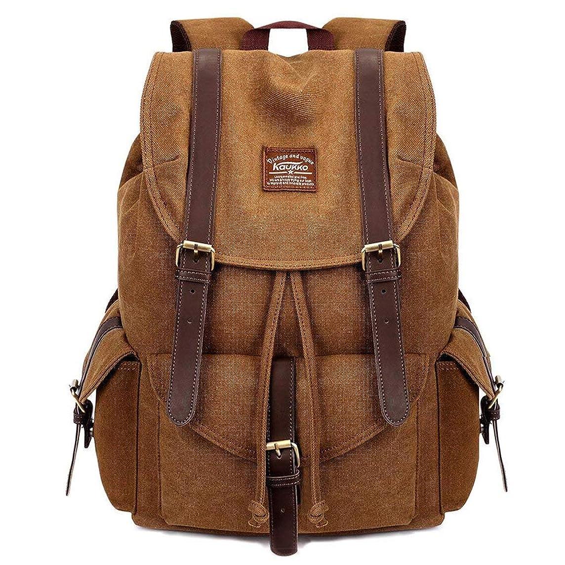 Vintage Canvas Backpack Kaukko Outdoor Travel Hiking Rucksack School Bookbags