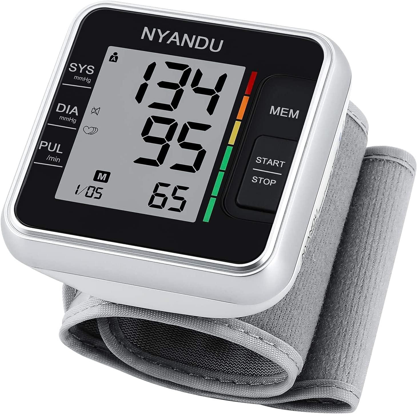 Selling and selling Blood Pressure Monitor NYANDU Max 66% OFF BP Heart Irregular Wrist