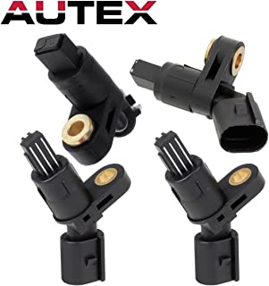 AUTEX 4PCS ABS Wheel Speed Sensor Front & Rear ALS465 ALS470 compatible with Audi TT 2000 2001 2002 2003 2004 2005 2006/replacement for Volkswagen Beetle 1998 1999 2000 2001 2002 2003 2004 2005-2010 - coolthings.us
