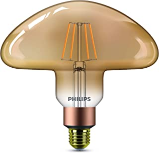 Philips bombilla LED con forma de champiñón de filamento efecto vintage, casquillo gordo E27, 5 W, 350 lúmenes, luz blanca cálida regulable, efecto llama