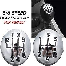 Whyzj 5//6 Speed Car Schaltknauf-Kappen-Abdeckung Schalthebel-Kopf-Abdeckung//Fit for Renault Clio//Fit for Twingo//Fit for Scenic//Fit for Megane II 1996-2011 Color Name : 5 Speed