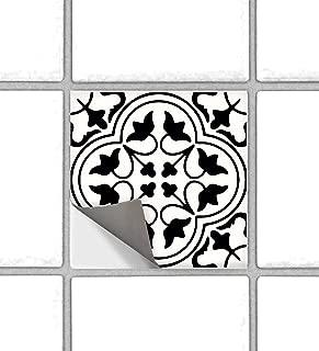 Bleucoin Moroccan Tangier Peel and Stick Tile Stickers for Kitchen Backsplash Bathroom Floor Wood Glass Metal Linoleum   Waterproof Removable Eco-Friendly Decals,Vinyl Murals - Pack of 6 (6